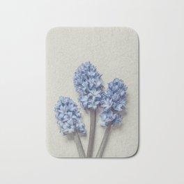 Light Blue Hyacinths Bath Mat