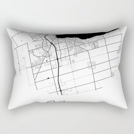 Barrie Area City Map, Barrie Circle City Maps Print, Barrie Black Water City Maps Rectangular Pillow