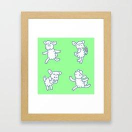 Stickimals - Sheep Framed Art Print