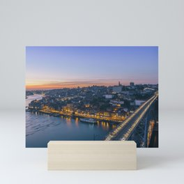 Porto from Serra do Pilar. Mini Art Print