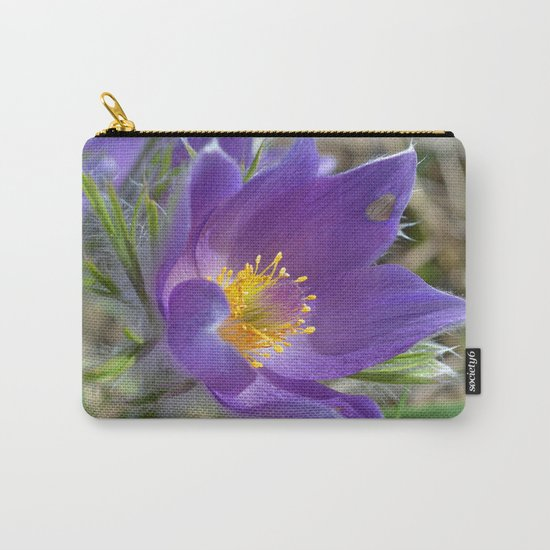 Purple Pasqueflower  Carry-All Pouch