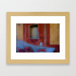 Pompeian fresco Framed Art Print