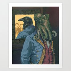 Lovecraft vs. Poe Art Print