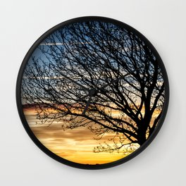 Tree Sunrise 2 Wall Clock