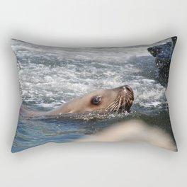 Seal Close Up Rectangular Pillow