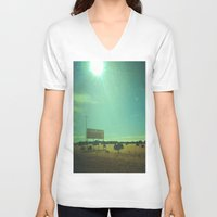 fireworks V-neck T-shirts featuring Fireworks! by Teran Jones