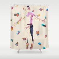 queer Shower Curtains featuring Midsumma by Kim Leutwyler