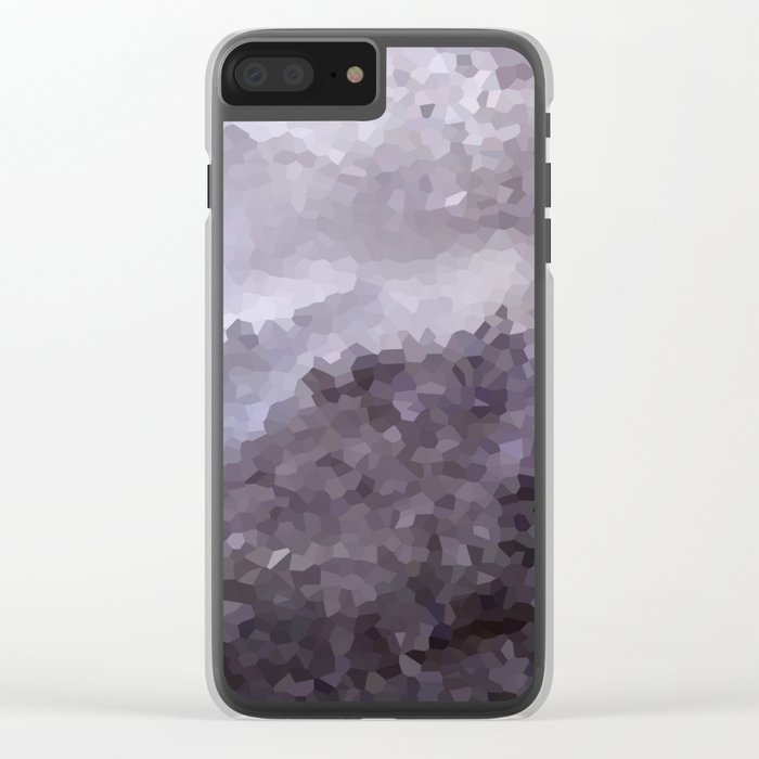 Grey crystals. Clear iPhone Case