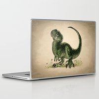 trex Laptop & iPad Skins featuring Baby T-Rex by River Dragon Art