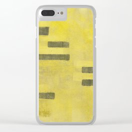 Stasis Gray & Gold 3 Clear iPhone Case