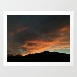 Summer Sunsets Art Print