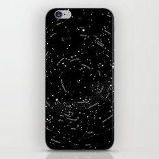 Constellation Map - Black iPhone & iPod Skin