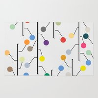 dots Area & Throw Rugs featuring Dots by John Murphy