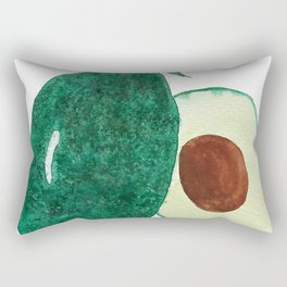 green avocado watercolor Rectangular Pillow