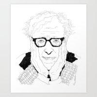 woody allen Art Prints featuring Woody Allen by lena kuzina