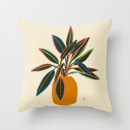 PLANT WITH COLOURFUL LEAVES  Throw Pillow