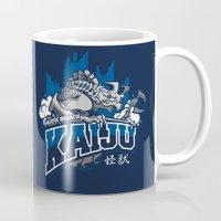 kaiju Mugs featuring Pacific Breach Kaiju by Michael B. Myers Jr.