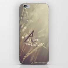 A is for Awesome iPhone & iPod Skin