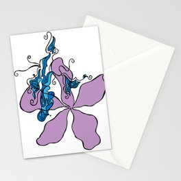 A Winded Flower Stationery Cards