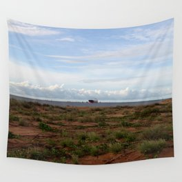 Ore Ship off Spoil Bank Wall Tapestry