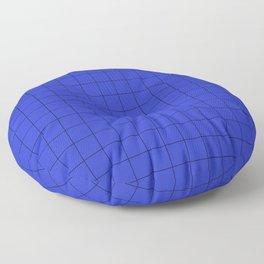 Blue Grid Pattern Floor Pillow