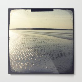 Sparkling seaside sunset Metal Print