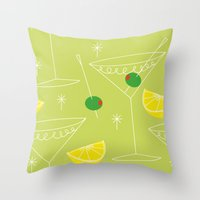 cocktail Throw Pillows featuring Cocktail by ViconiaMcAliens