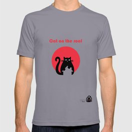 """Cat on the roof"" by Qora and Shaï T-shirt"