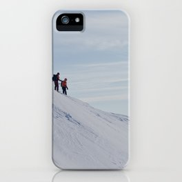Skiers at Hatcher Pass iPhone Case