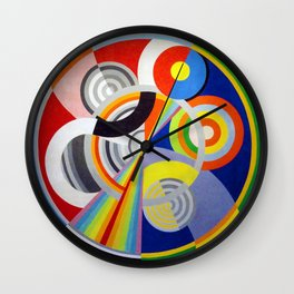 Robert Delaunay - Rhythm N1, Decoration For The Salon Des Tuileries - Digital Remastered Edition Wall Clock