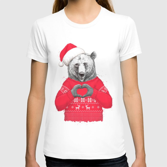 christmas bear T-shirt