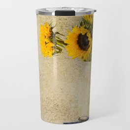 Vintage Sunflowers Travel Mug