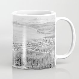 Vintage Pictorial Map of Port Townsend WA (1878) Coffee Mug