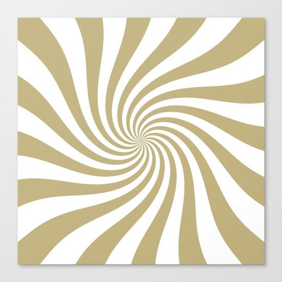 Swirl (Sand/White) Canvas Print