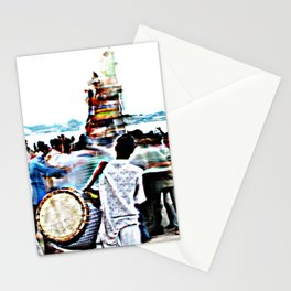 Drummer at Durga Puja Immersion Stationery Cards