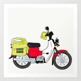 Postie Bike Art Print