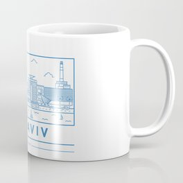 Tel Aviv line art Coffee Mug