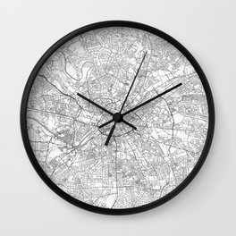 Manchester Map Line Wall Clock