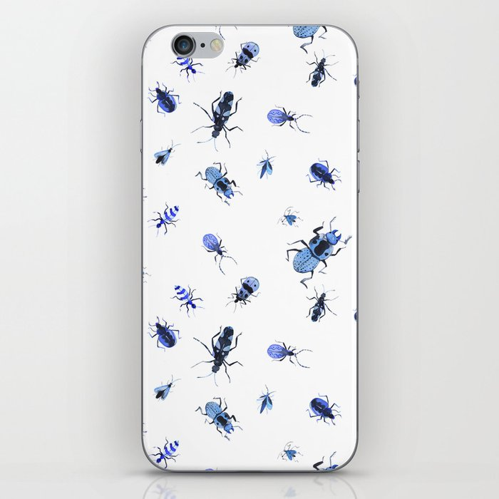 Blue bugs iPhone Skin