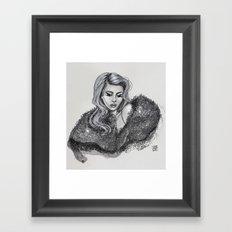 La única. Framed Art Print