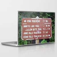 miles davis Laptop & iPad Skins featuring Trail Miles by NoelleB
