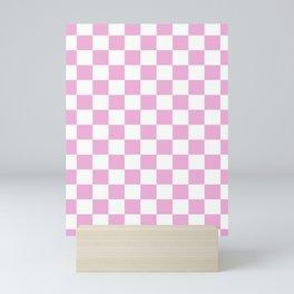 Pink Checkered Phone Case Mini Art Print