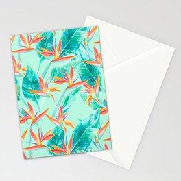 Birds Of Paradise Mint Stationery Cards