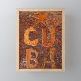 CUIN CUBA Framed Mini Art Print