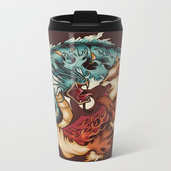 The Tiger and the Dragon Metal Travel Mug