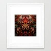 jaguar Framed Art Prints featuring Jaguar by Zandonai