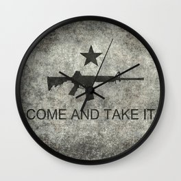 Come and Take it Flag with AR-15 Wall Clock