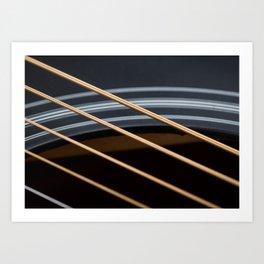 Guitar String Abstract 1 Art Print