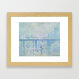 1899-Claude Monet-Charing Cross Bridge-65 x 80 Framed Art Print
