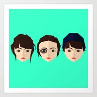 chvrches Art Prints featuring Lauren Mayberry by incognek0